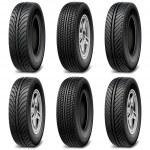 Vector Car Tires — Stock Vector