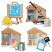 Vector Homebuilding Concept — Stock Vector