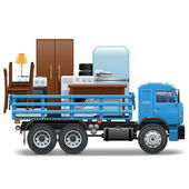 Vector Moving Concept — Stock Vector