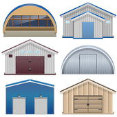 Vector Barns — Stock Vector
