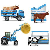 Vector Agricultural Icons Set 3 — Stock Vector