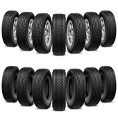 Vector Wedge of Tires — Stock Vector
