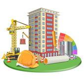 Vector Living Block Construction — Stock Vector