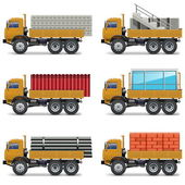 Vector Construction Trucks — Stockvektor