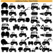 Vector Agricultural Tractor Pictograms — Vector de stock