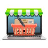 Vector Computer Shopping Concept — Stockvektor