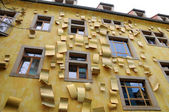 Facade of a building with windows — Stock Photo