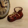 Stockfoto: Boots and watch, decoupage, handmade