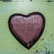 Original heart of the tree, decoupage, handmade — Stock Photo
