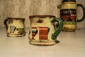 Coffee set, decoupage, handmade — Zdjęcie stockowe