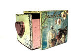 Box with orchids, decoupage, handmade — Stock Photo
