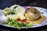 Polpette di carne con patate — Foto Stock