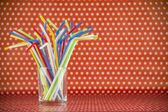 Tubules for cocktails — Stock Photo