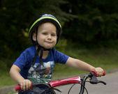 Boy wearing a helmet — Stock Photo