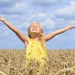 Stock Photo: Girl in wheat field
