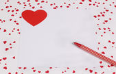 Card with Symbol of Love — Stock Photo