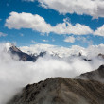 Beautiful and majestic mountains of Trans-Ili Alatau — Stock Photo