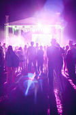 Outdoor concert bright and loud — Stock Photo