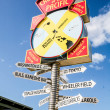 Road signs directions — Foto Stock