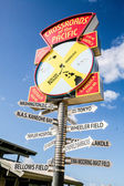 Road signs directions — Stock Photo