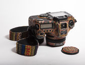 Painted camera — Stockfoto