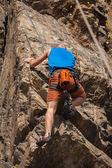 Male rock climber — Stock Photo