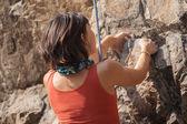 Hand Female rock climber — Stock Photo