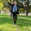 Slackline — Stock Photo