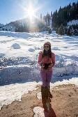 Mujer de montaña — Foto de Stock
