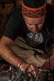 Ethno musician — Stock Photo
