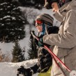 Foto de Stock  : Skiing and snowboarding