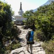 Stock Photo: Wide comfortable and lovely trails in Nepal