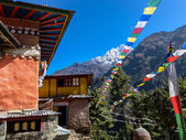 The second largest Buddhist monastery in Nepal Mountain Dingboch — Stock Photo