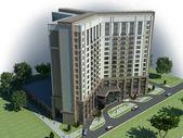Hotel Project 18 floors — Stock Photo