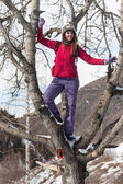 Girl in winter nature photographs  — Foto de Stock