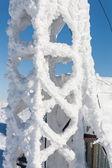 Skigebiet in den bergen im winter — Stockfoto