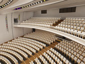 Interior of the modern theater built in 3D — Стоковое фото