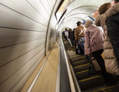 Fussy life underground in the city subway — Stock Photo