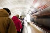 Fussy life underground in the city subway — Стоковое фото