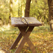 Empty wooden table — Stockfoto