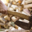 Stock Photo: Wood splitting