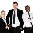 Three business people — Stock Photo