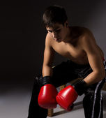 Young male kickboxer — Stock Photo