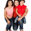 Three caucasian kids — Stock Photo