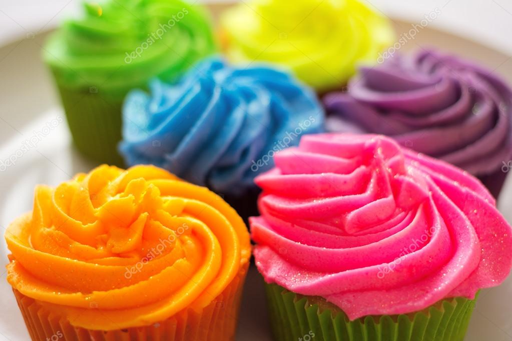 Bright colorful cupcakes — Stock Photo © handmademedia #32859809