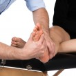 Physiotherapist massaging patient — Stock Photo