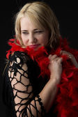 Blonde caucasian woman — Стоковое фото