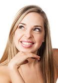 Natural beauty makeup girl — Stock Photo
