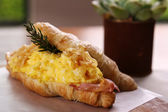 Delicious breakfast croissant — Stock Photo