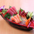 Japanese sashimi boat set — Stock Photo #29730637